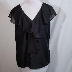 NWOT WD.NY Black Silk Blend Sleeveless Top Size 10